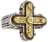 Konstantino Diamond Cross Cocktail Ring