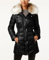 Laundry by Design Petite Faux-Fur-Trim Puffer Coat