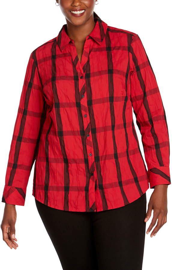 03395e39 Foxcroft Plus Size Tops - ShopStyle