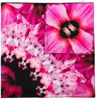 Alexander McQueen Paradise floral-print silk scarf