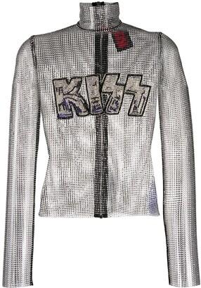 Philipp Plein Kiss mesh top