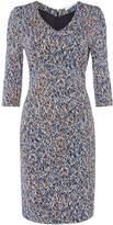HUGO BOSS Epona Brushstroke Jersey Dress
