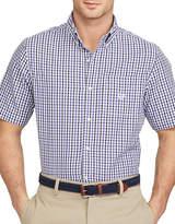 Chaps Short Sleeve Gingham Poplin Shirt