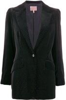 Romeo Gigli Pre Owned 1997 polka dotted slim blazer