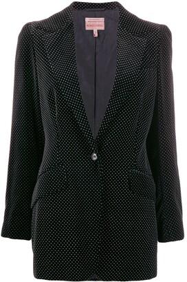 Romeo Gigli Pre-Owned 1997 polka dotted slim blazer