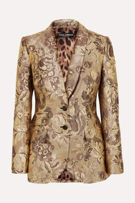 Dolce & Gabbana Metallic Brocade Blazer - Gold