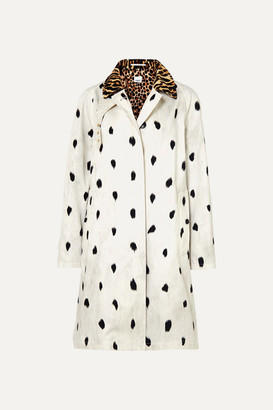 Burberry Animal-print Cotton-twill Trench Coat - Ivory