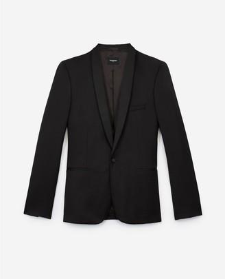 The Kooples Black formal wool jacket with satin lapels