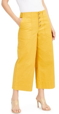 INC International Concepts Inc Button-Fly Culottes, Created for Macy's