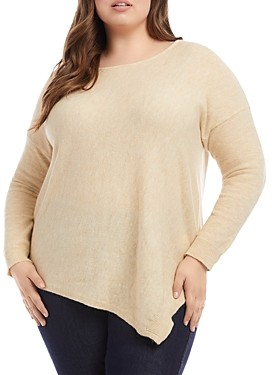 Karen Kane Plus Size Asymmetrical Hem Top