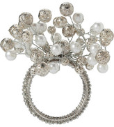 Christmas Shop Décor-Napkin Ring Pearl Bead White