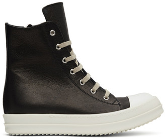 Rick Owens Black High-Top Sneakers