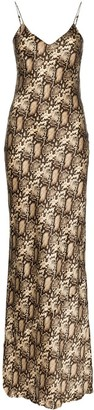 Nili Lotan V-neck snake-print maxi dress