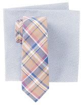 Original Penguin Derita Plaid Tie & Pocket Square Set