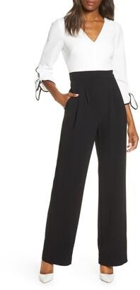 Harper Rose Colorblock Tie Sleeve Jumpsuit
