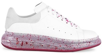 Alexander McQueen Men's Splatter Leather Platform Sneakers