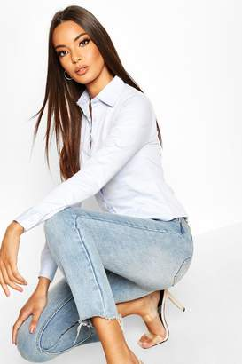 boohoo Basic Long Sleeve Work Wear Cotton Shirt