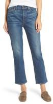 Women's 7 For All Mankind Edie High Waist Crop Straight Leg Jeans