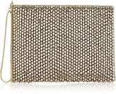 Reiss Cindy Bead Embellished Clutch Bag- Silver