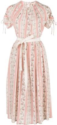 Brock Collection striped floral print Pietrina dress