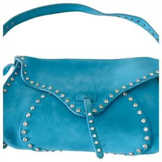 Celine Blue Suede Handbags