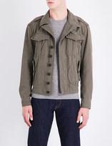Ralph Lauren Purple Label Buckle-fastened cotton and linen-blend jacket