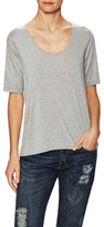 Three Dots Relaxed High Low Scoopneck Top