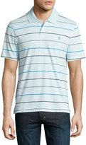 Original Penguin Striped Polo Shirt, Crystal Blue