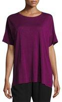 Eileen Fisher Fine Silk/Linen Round-Neck Tunic, Petite