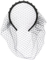 RED Valentino fishnet headband - women - Leather/Polyester/metal - One Size