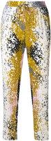 Diane von Furstenberg splattered trousers - women - Silk/Spandex/Elastane - M