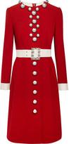 Dolce & Gabbana Embellished Wool-blend Dress - Red