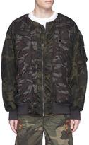 Facetasm Camouflage print oversized padded MA-1 bomber jacket