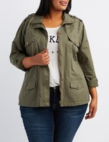 Charlotte Russe Plus Size Zip-Up Anorak Jacket