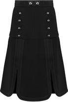 Peter Pilotto Tessel scalloped wool-crepe mini skirt