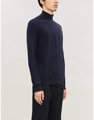 Polo Ralph Lauren Logo-embroidered zip-up cotton-jersey top