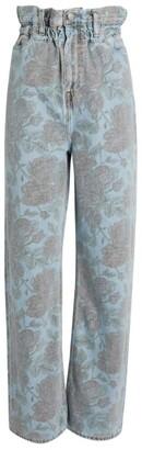 Ganni + Levi's Floral Wide-Leg Jeans