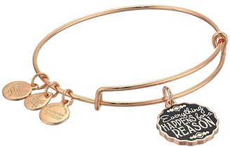 Alex and Ani Words Are Powerful Everything Happens for A Reason Bangle Bracelet (Shiny Rose Gold) Bracelet