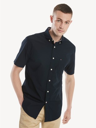 Tommy Hilfiger Classic Fit Essential Short-Sleeve Solid Shirt