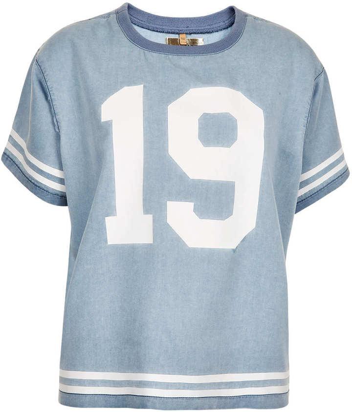 Topshop MOTO Varsity Stripe T-shirt