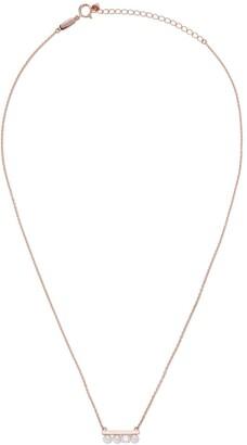 TASAKI 18kt rose gold petit Balance Akoya pearl and solo diamond pendant necklace