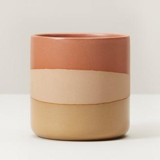 Indigo Small Glazed Plant Pot Sunset Orange