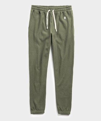 Todd Snyder + Champion Terry Classic Sweatpant in Washed Olive