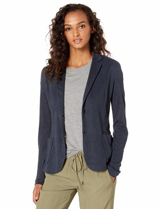 Majestic Filatures Women's Linen/Silk Long Sleeve 2-Button Blazer