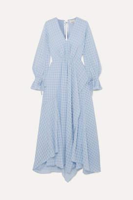 3.1 Phillip Lim Ruched Jacquard Maxi Dress - Light blue