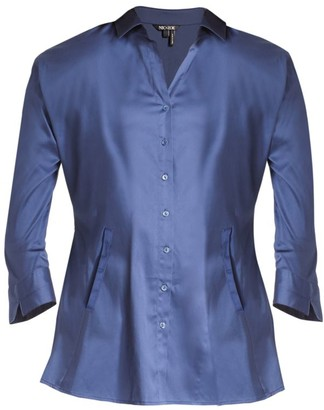 NIC+ZOE, Plus Size Santa Monica Stretch-Cotton Shirt Jacket
