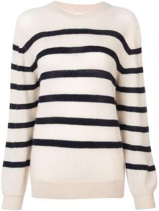 KHAITE horizontal stripes jumper