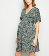 New Look Maternity Floral Wrap Front Mini Dress