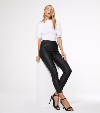 New Look Petite Leather-Look 'Lift & Shape' Skinny Jeans