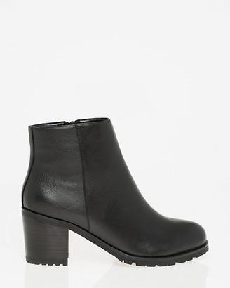 Le Château Leather Almond Toe Ankle Boot